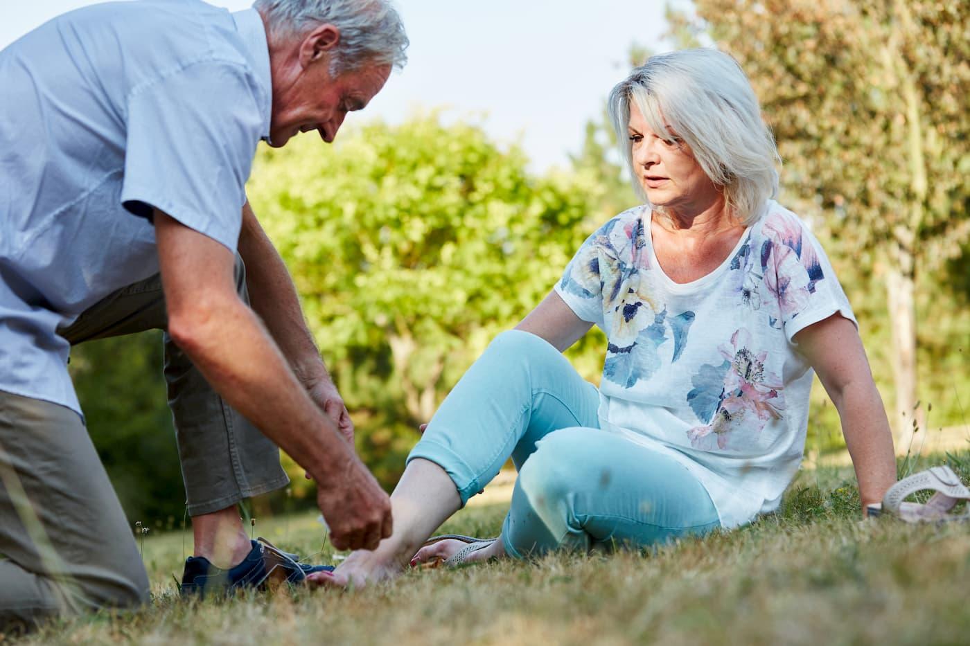 mal de pied chez les seniors